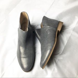 Splendid Petunia Silver Metallic Leather Booties